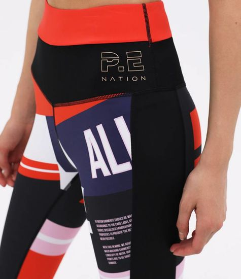 P. E Nation Conversion Legging Print