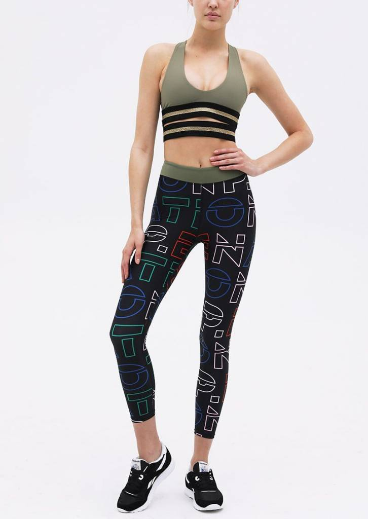 P. E Nation Across The Line Legging Print