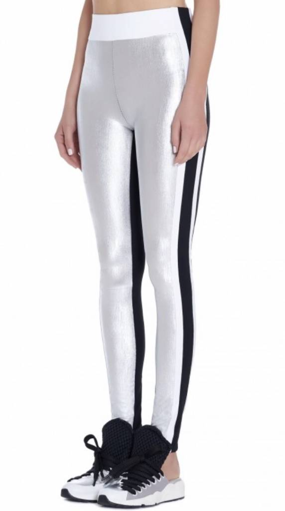 NO KA'OI Kalia Leggings Silver - Metallic Couture Legging in Gold and Silver