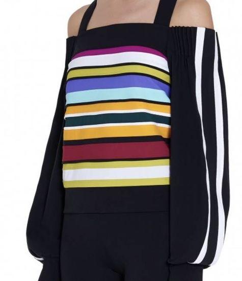 NO KA'OI NO KA'OI - Nalu Top - Couture top met gekleurde strepen