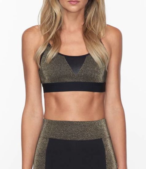 Koral Activewear Trifecta Block Gold Versatility  Sport-BH