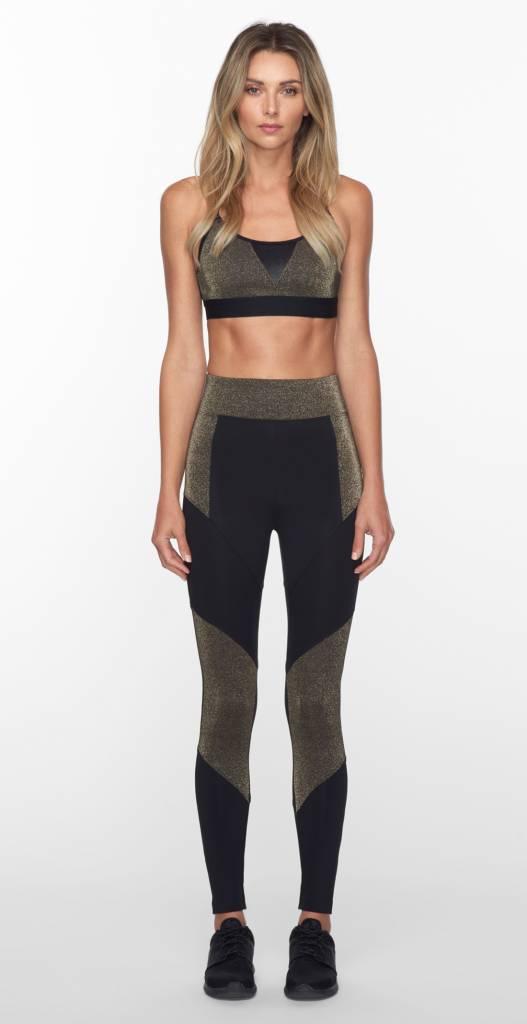 Koral Activewear Trifecta Block Gold Versatility Bra