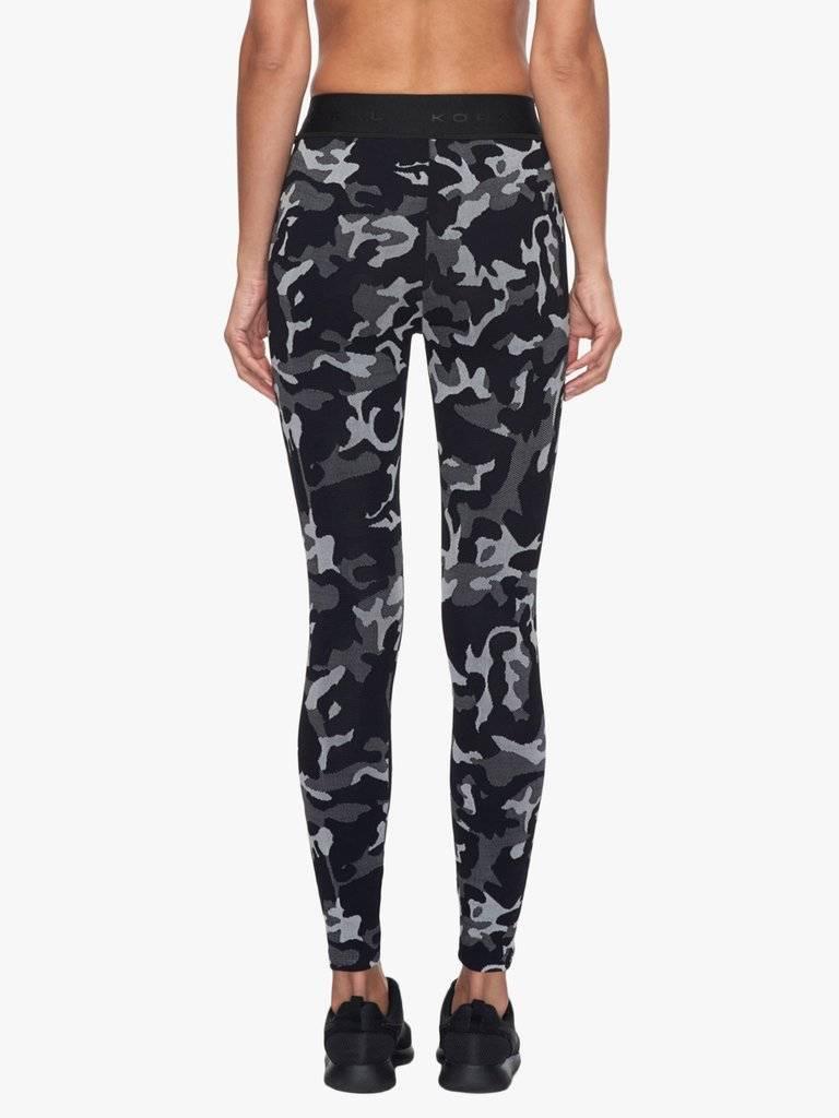 Koral Activewear Camo Knockout Crop Legging Black Camo w/ Black