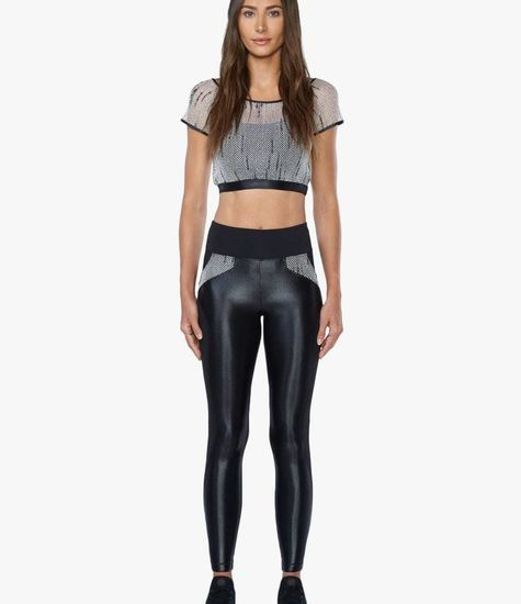 9cc392a8557e4 Koral Activewear - High Rise Legging Black/Weave - STELLASSTYLE