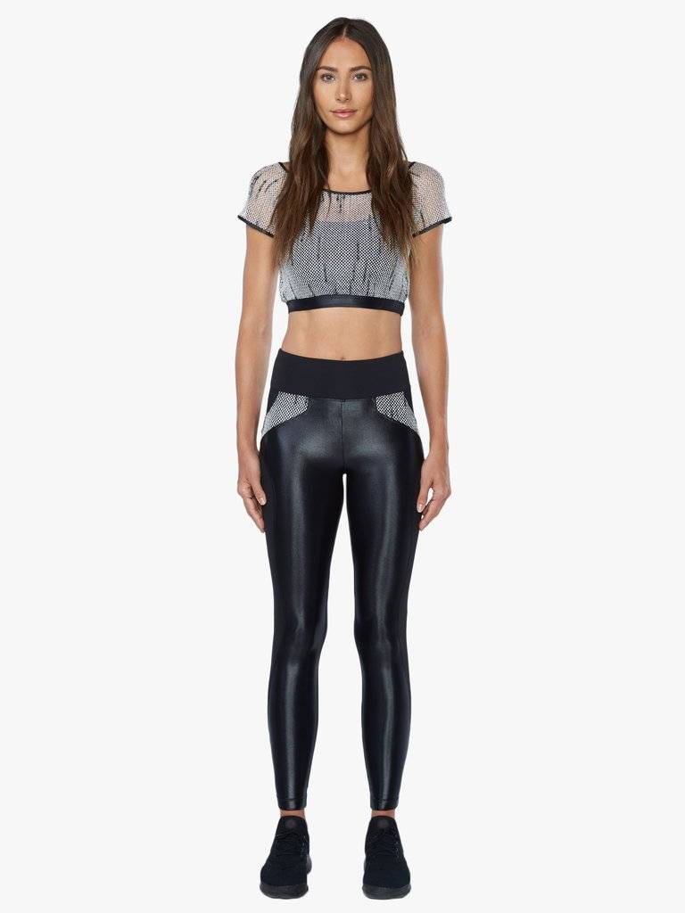 Koral Activewear High Rise Legging Black/Weave