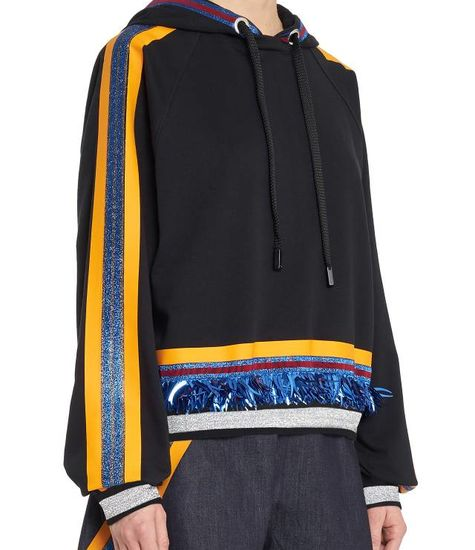 NO KA'OI Waena Long Sleeve Top with Embroidery