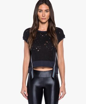 Koral Activewear Futurist Crop Top – Black