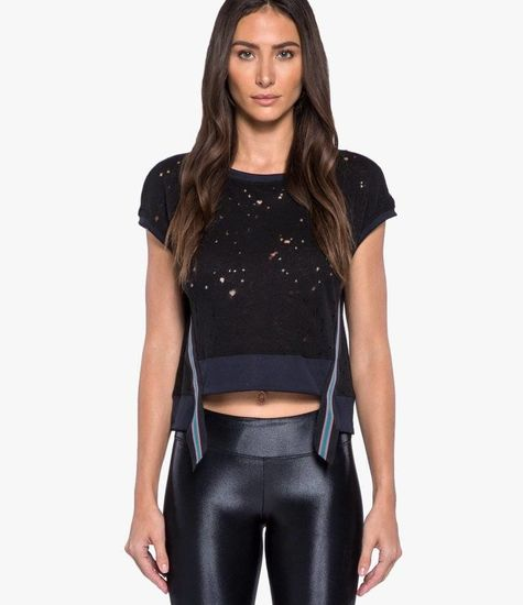 Koral Activewear Futurist Crop Top – Zwarte sport top