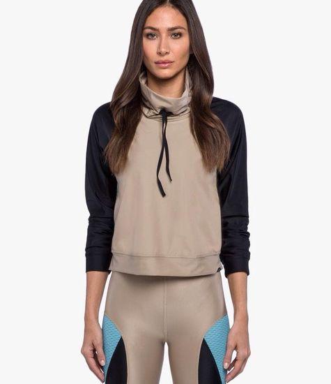Koral Activewear Pump Pullover - Stoere trui in kleur Hummus/Black/Blue