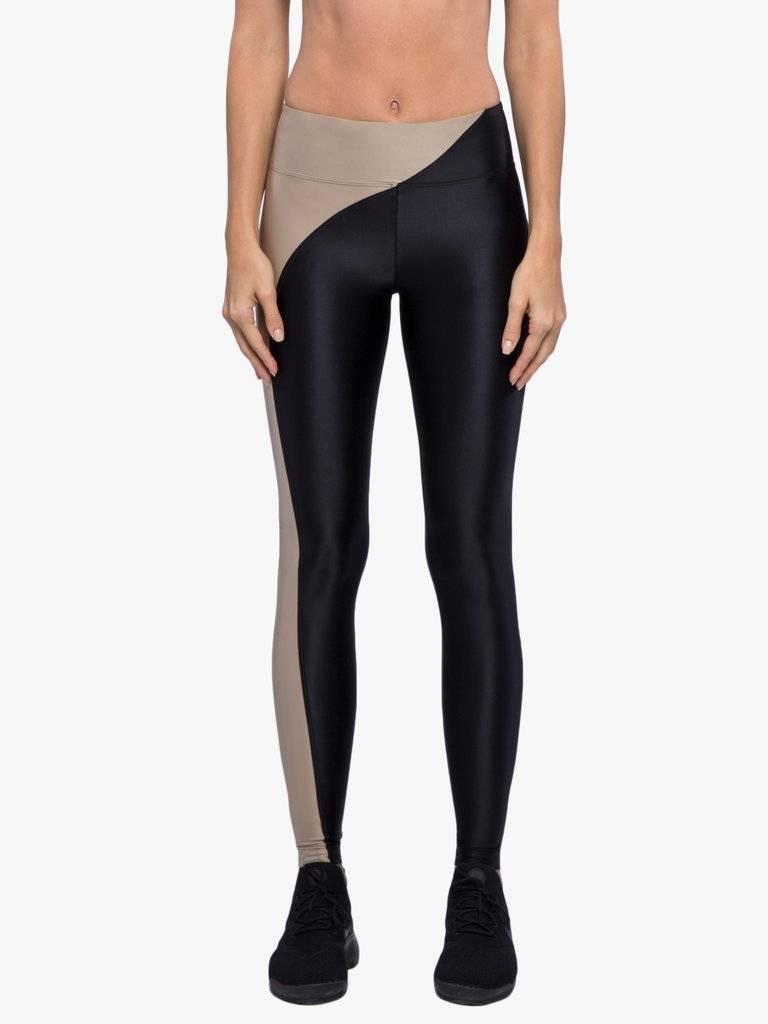 Koral Activewear Chase Mid-Rise Legging - Hummus/Black