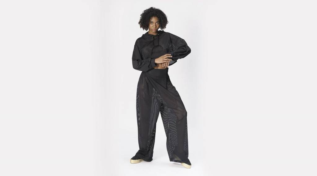 42 54 Black Woven Pant Queen of Hearts oversized pant