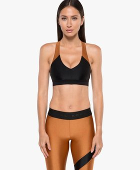 Koral Activewear Bunji Sprint Sports Bra Black/Sunstone