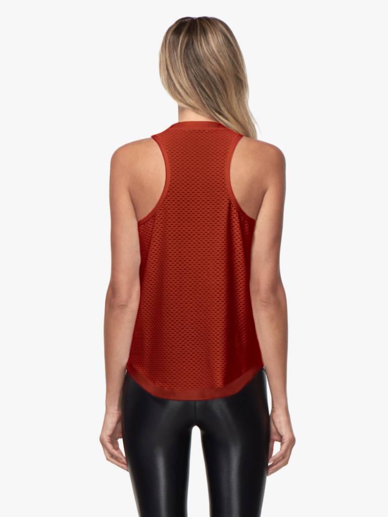 Koral Activewear Aerate Netz Tank Rouge