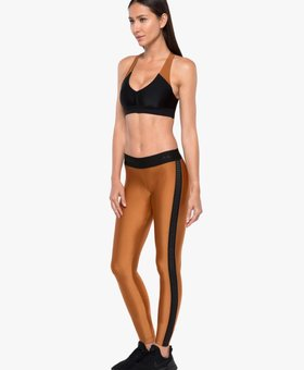 Koral Activewear Atom Mid Rise Sprint Legging Sunstone/Black