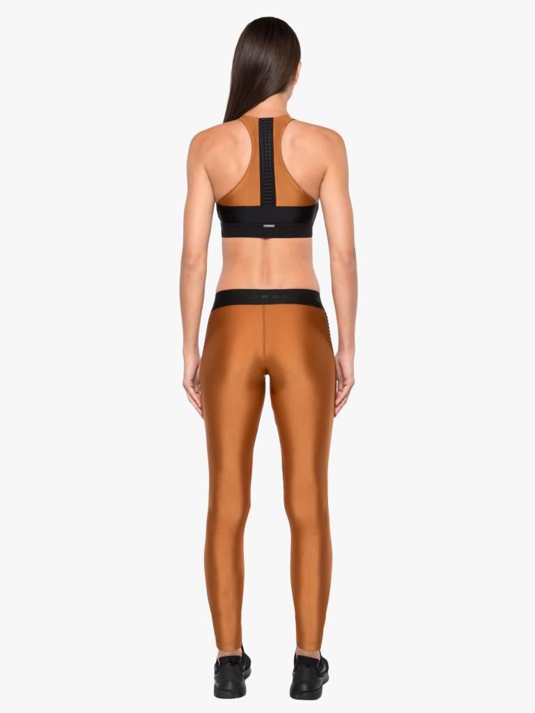 Koral Activewear Atom Mid Rise Sprint Legging Sunstone/Black