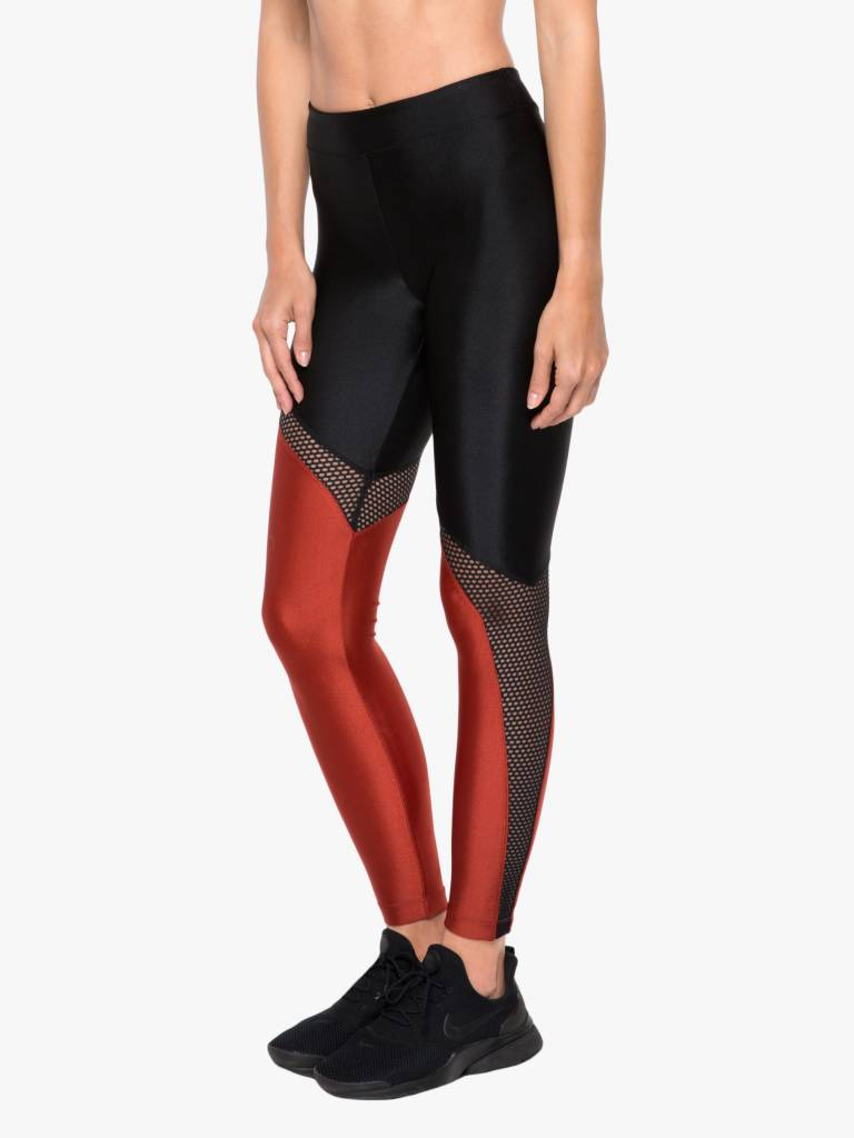 Koral Activewear Venus High Rise Sprint Legging - Black/Rouge
