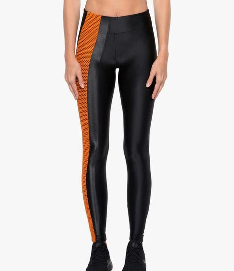 Koral Activewear Teazer High Rise Legging Black/ Jasper Orange
