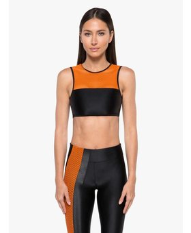 Koral Activewear Rotation Versatility Bra - Black/Jasper Orange