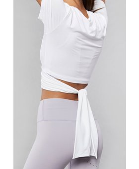 Varley Ruth Crop Top White