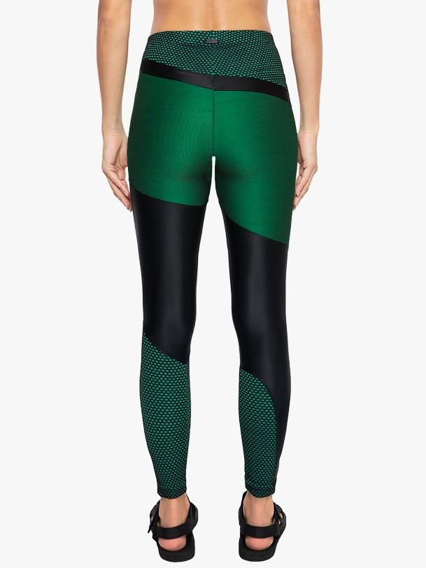 Koral Activewear  Deuces Shantung High Rise Legging  - Black/Verde