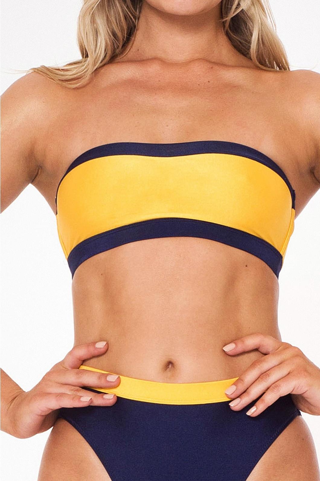 L'urv On Target Bikini Bottom - Navy Yellow