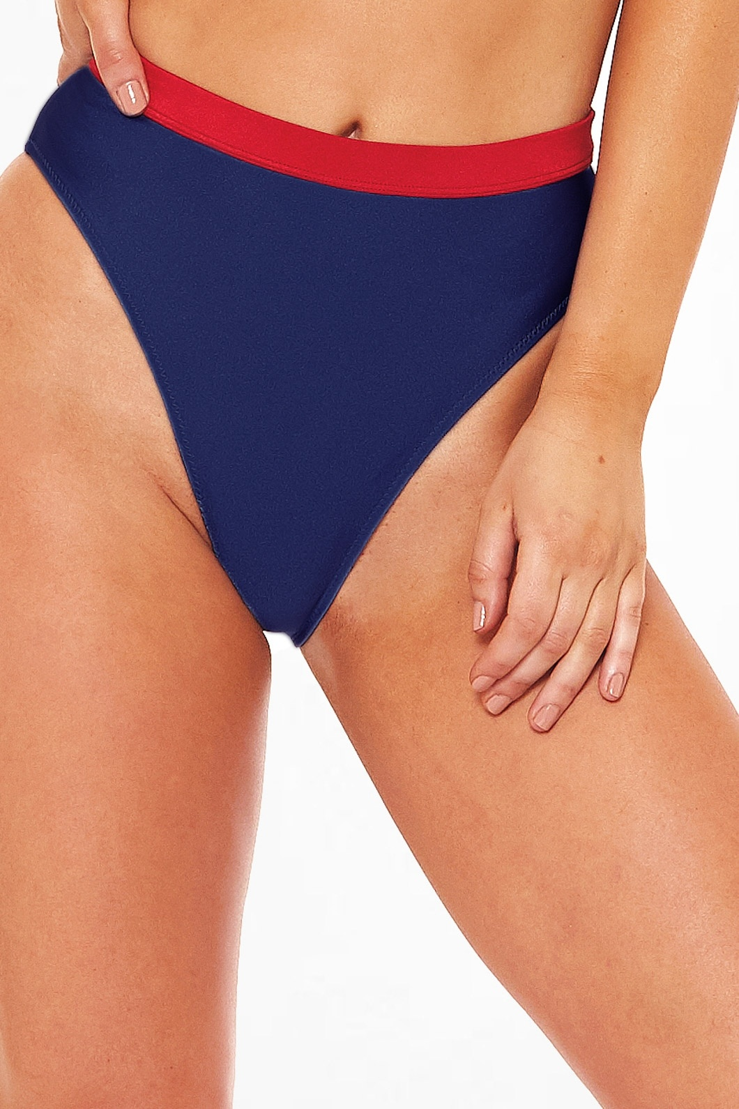 L'urv On Target Bikini Bottom - Navy Red