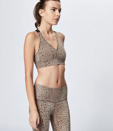 Varley Harper Bra Saharan Cheetah