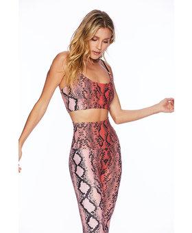 Beach Riot Snake Bra - Pink Snake