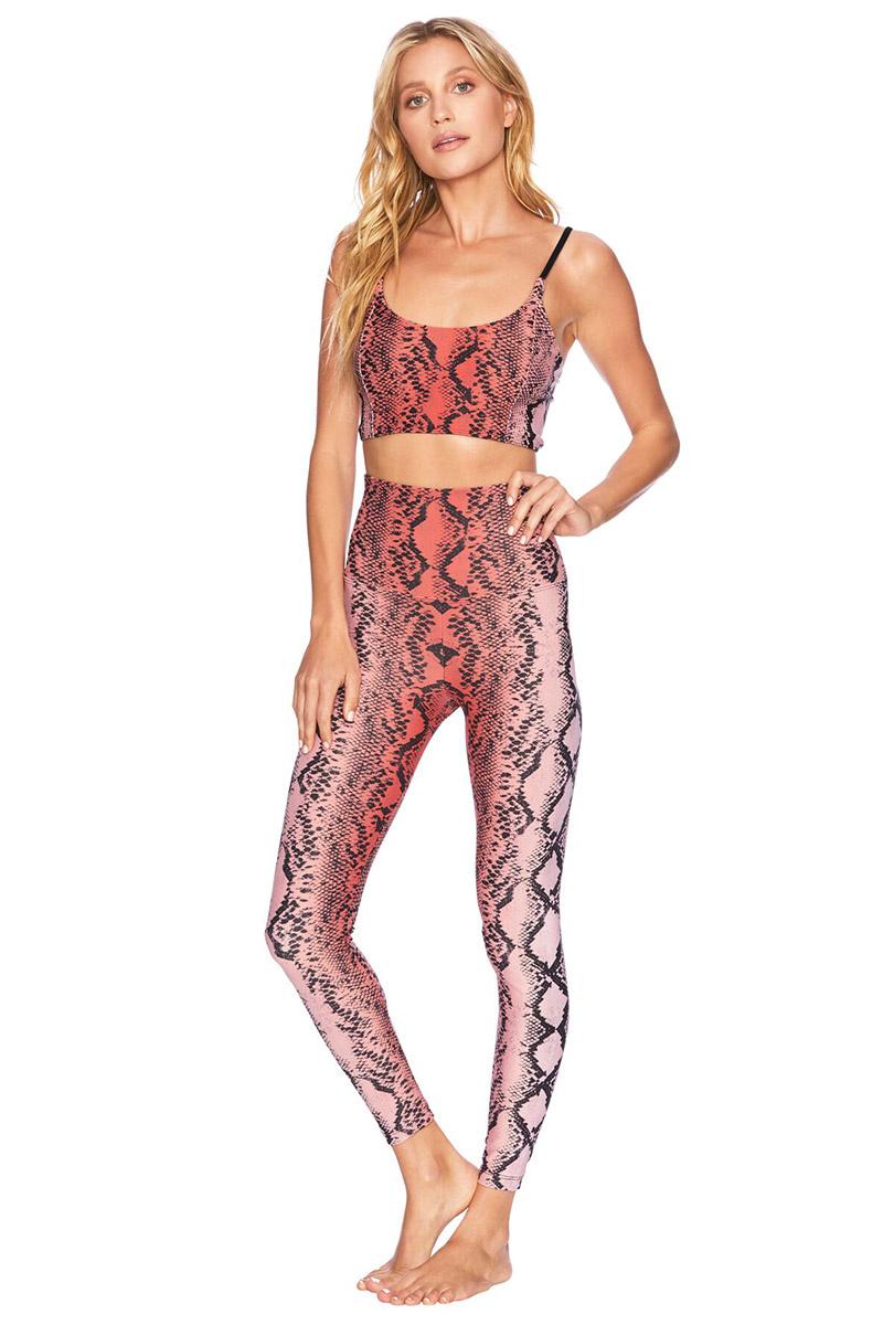 Beach Riot Snake legging - Pink Snake