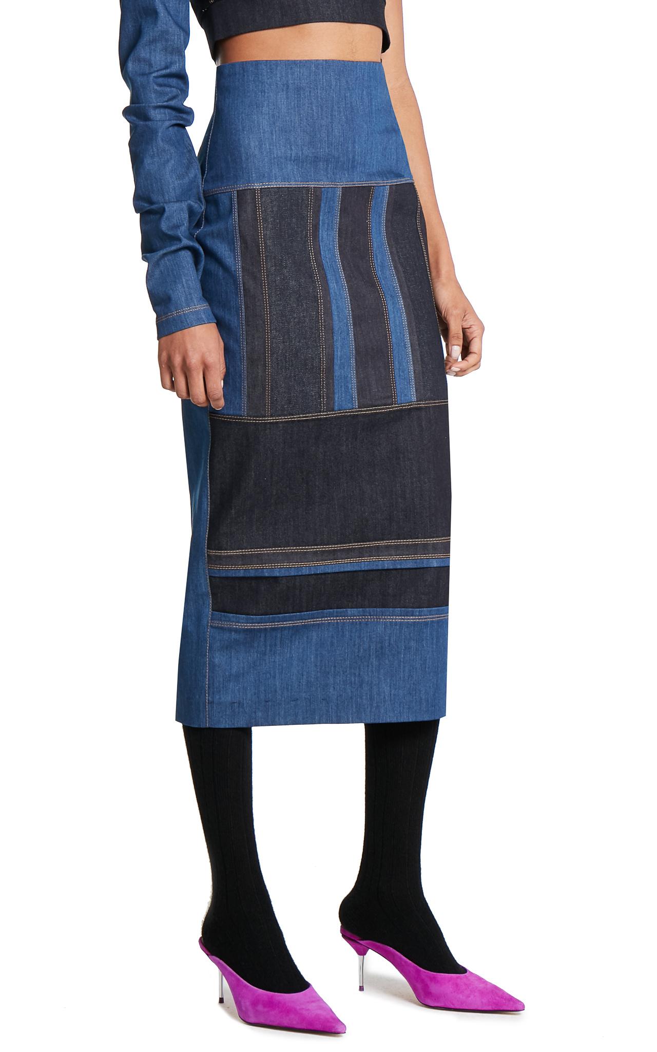 NO KA'OI Denim Pencil skirt