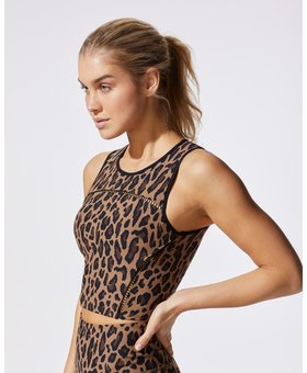 Michi The Primal Crop Top Leopard