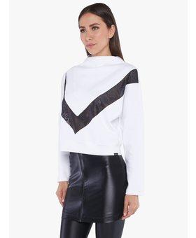 Koral Activewear Sigmatic Scuba Sweatshirt White Black