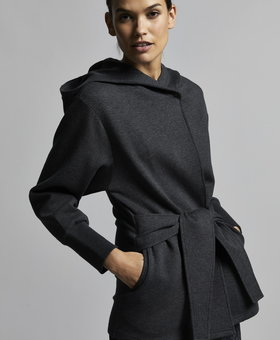 Varley Cove Wrap Sweat Black Marl