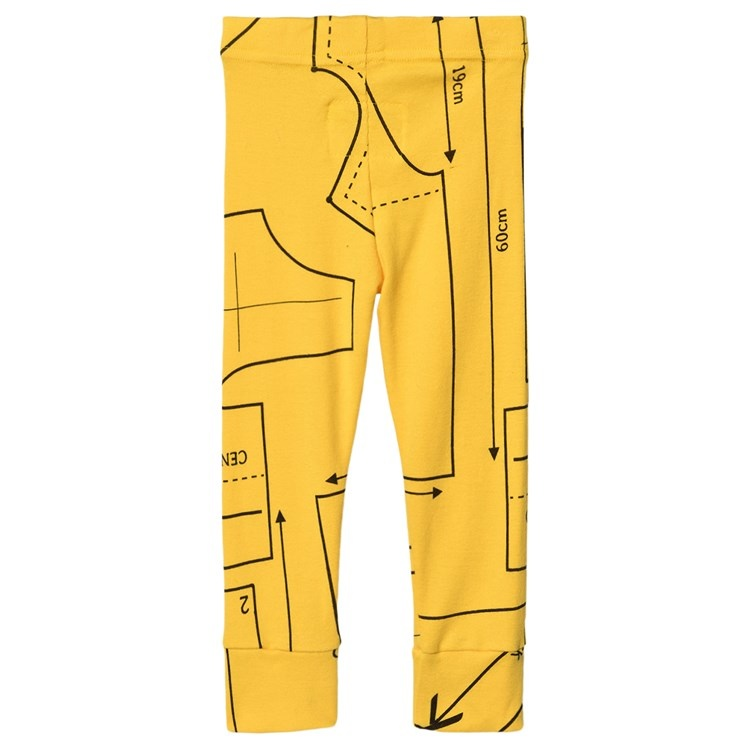 NUNUNU Sewing Pattern Leggings Lava Yellow