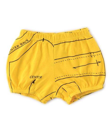 NUNUNU Sewing Pattern Yoga Shorts Lava Yellow