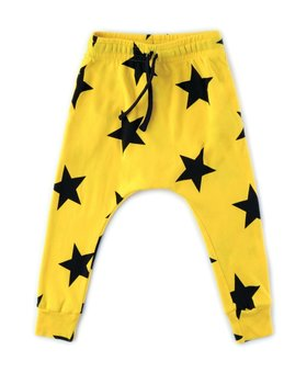 NUNUNU Star Baggy Pants Lava Yellow