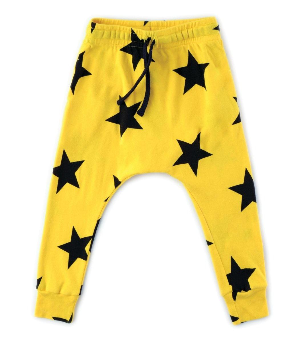 NUNUNU Star Baggy Pants Lava Yellow