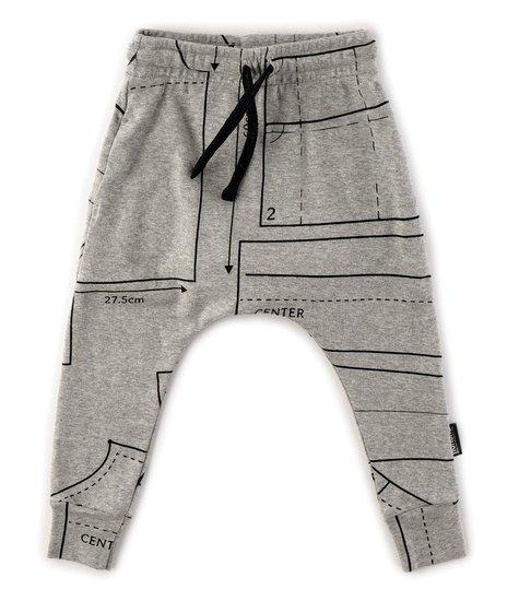 NUNUNU Sewing Pattern Baggy Pants Heather Grey