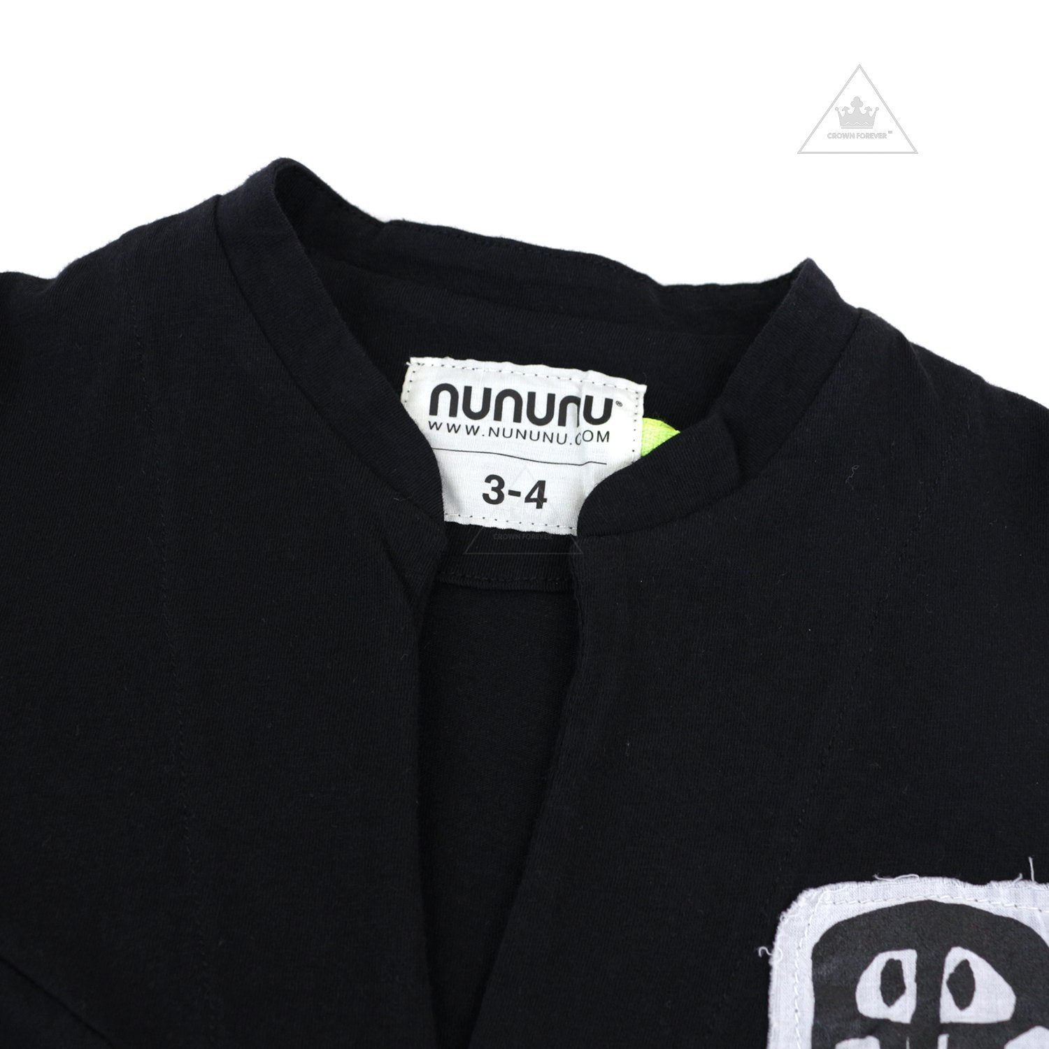 NUNUNU Rowdy Mask Patch Beach Shirt Black