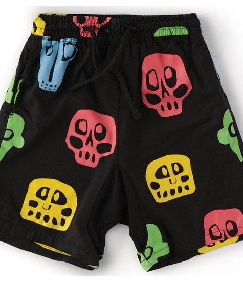 NUNUNU Rowdy Mask Voile Shorts colorful Black