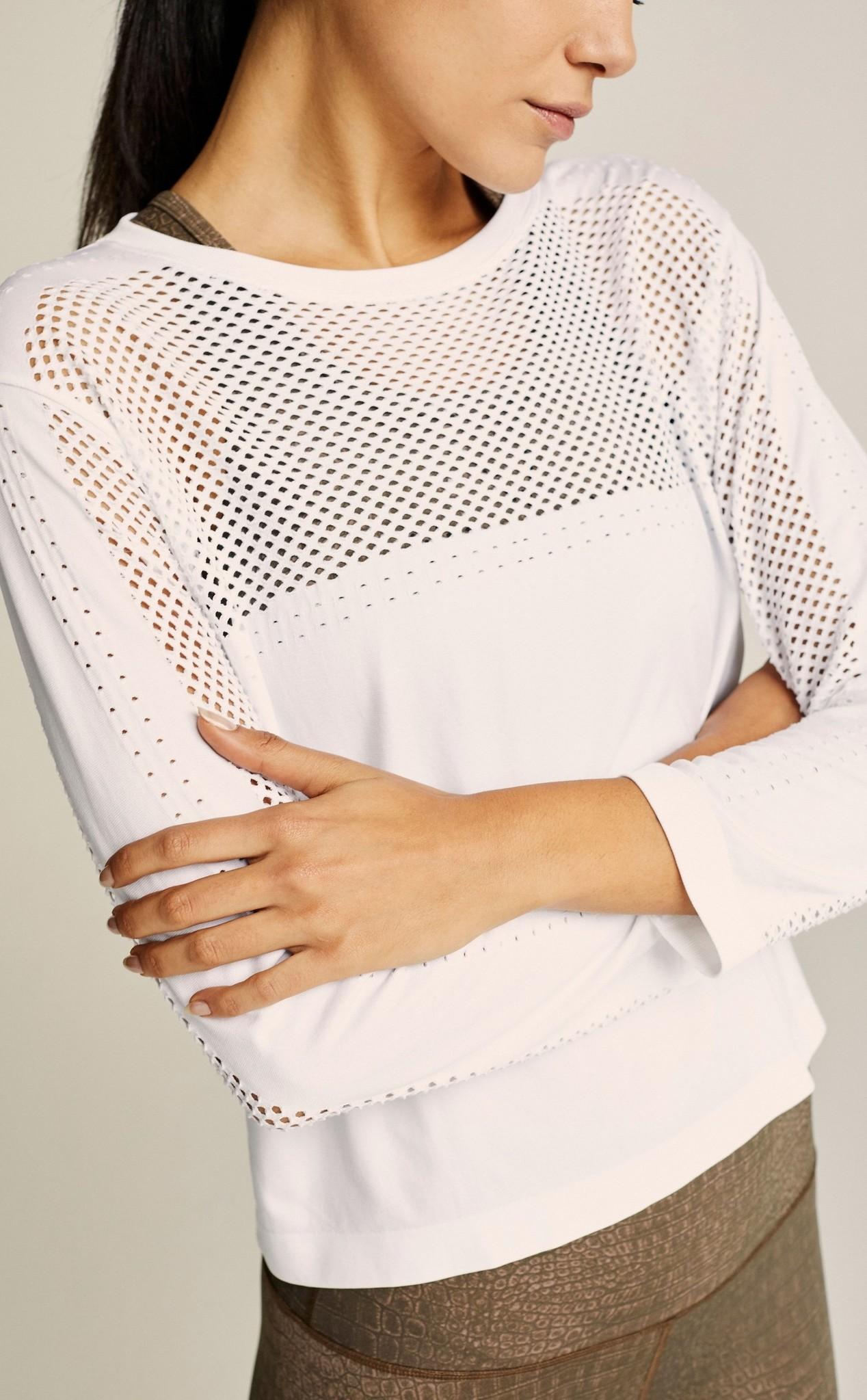 Varley  The Halldale Seamless Long Sleeve White