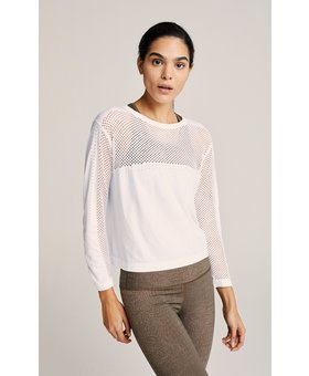 Varley The Halldale Seamless Long Sleeve White