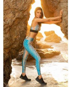 Koral Activewear Lustrous High Rise Legging Vivid Snake