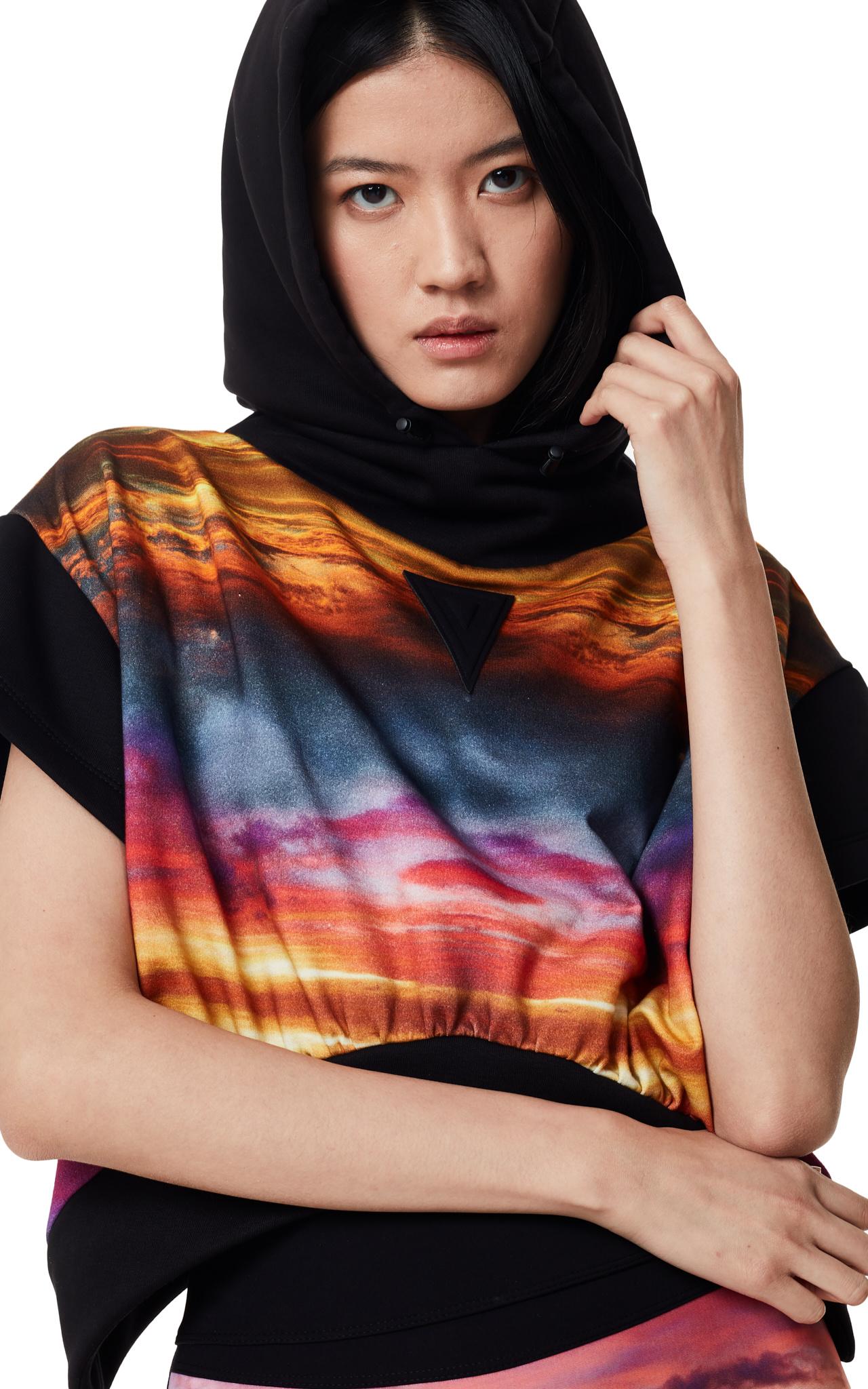 NO KA'OI Dusk Dawn cropped hoodie