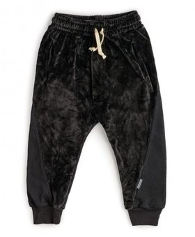 NUNUNU Mixed Velvet Sweatpants