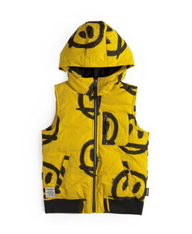 NUNUNU Sprayed Smiles Down Vest