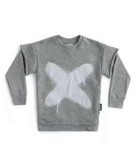 NUNUNU Sprayed X Twofer Sweatshirt