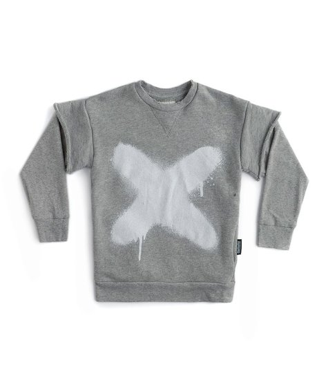 NUNUNU Sprayed X Twofer Sweatshirt