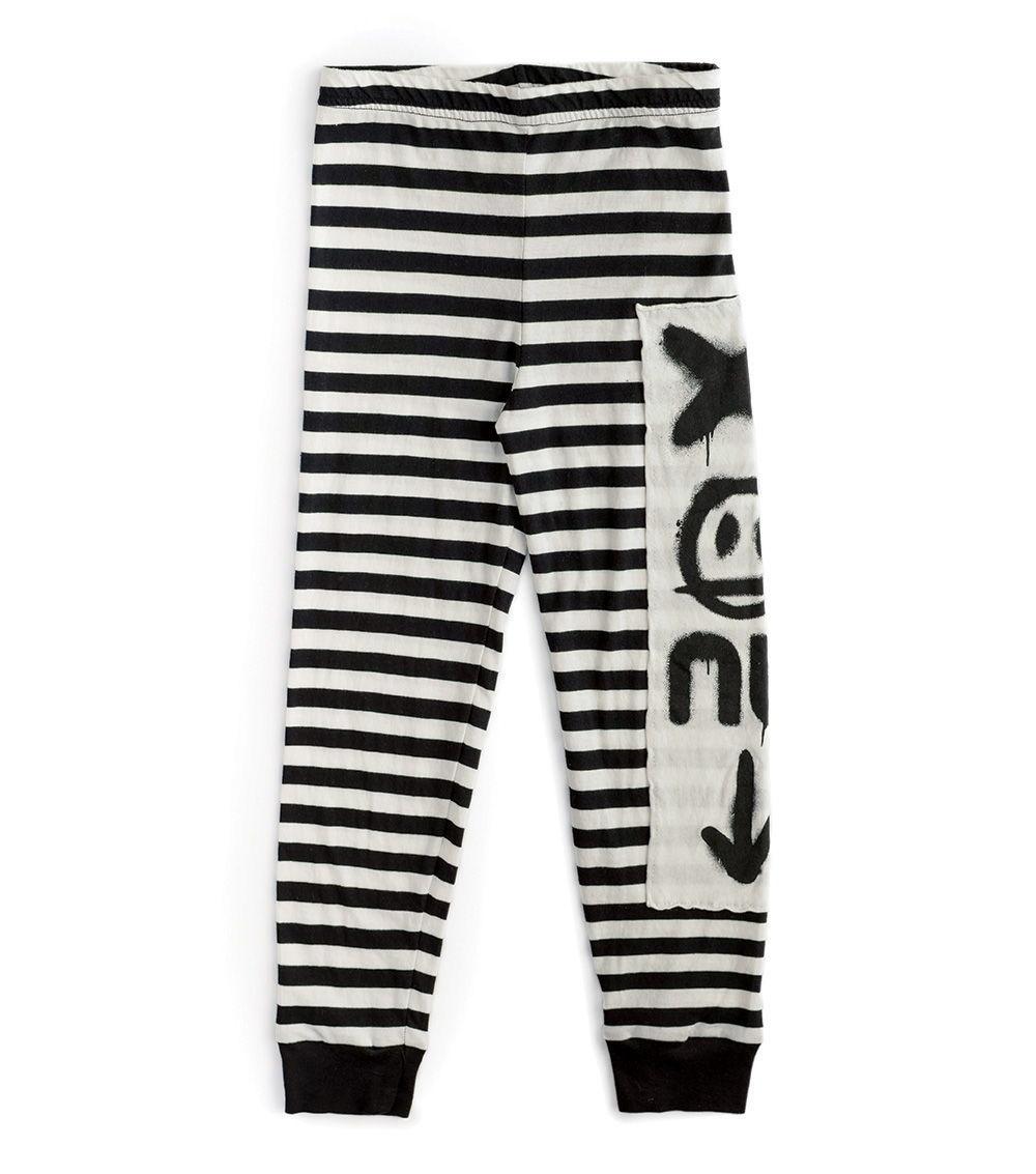 NUNUNU Total Elements Striped Leggings