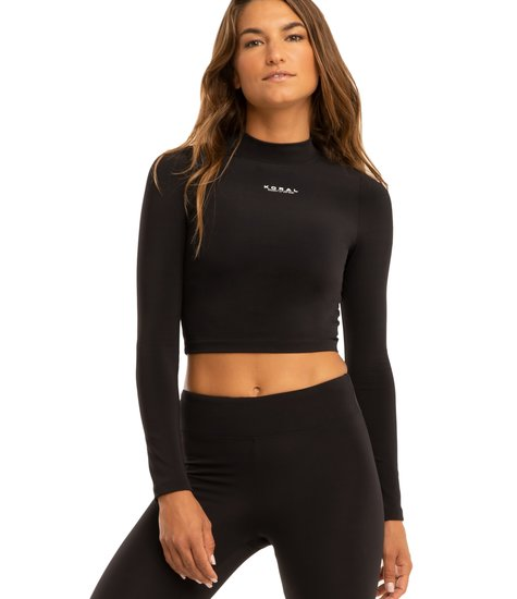 Koral Activewear Luca Blackout Crop